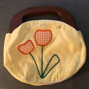 Vintage tulip handbag